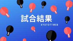 2019年度京都府民総合体育大会卓球の部 試合結果